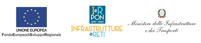 Loghi Porgramma Operativo Nazionale Infrastrutture e Reti 2014 - 2020